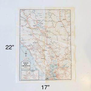 VTG NORTH BAY COUNTIES CALIFORNIA ROAD MAP HTF